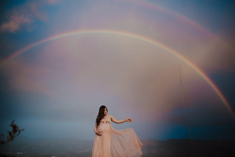 Embarazada arcoiris